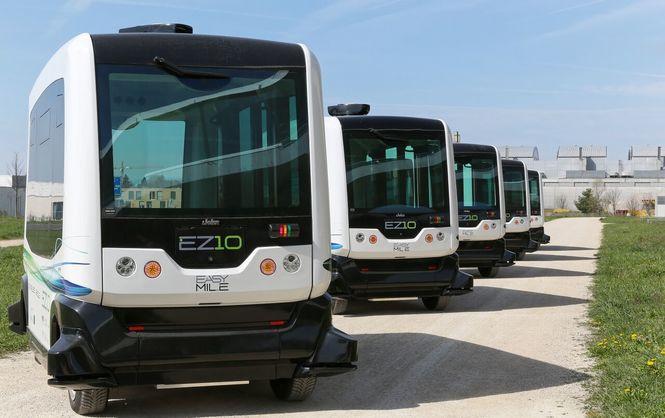 беспилотный автобус Сингапур